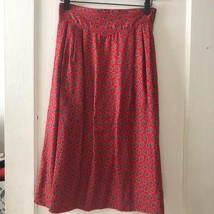 Vintage Nell Flowers Midi Skirt